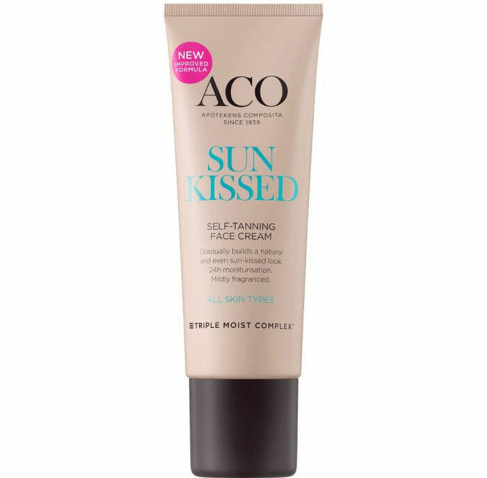 ACO Sunkissed Self-Tanning Face Cream brun utan sol ansikte