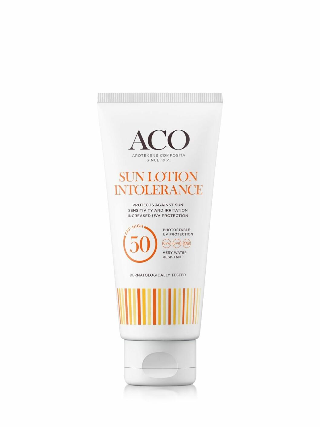 ACOs Sun lotion intolerance