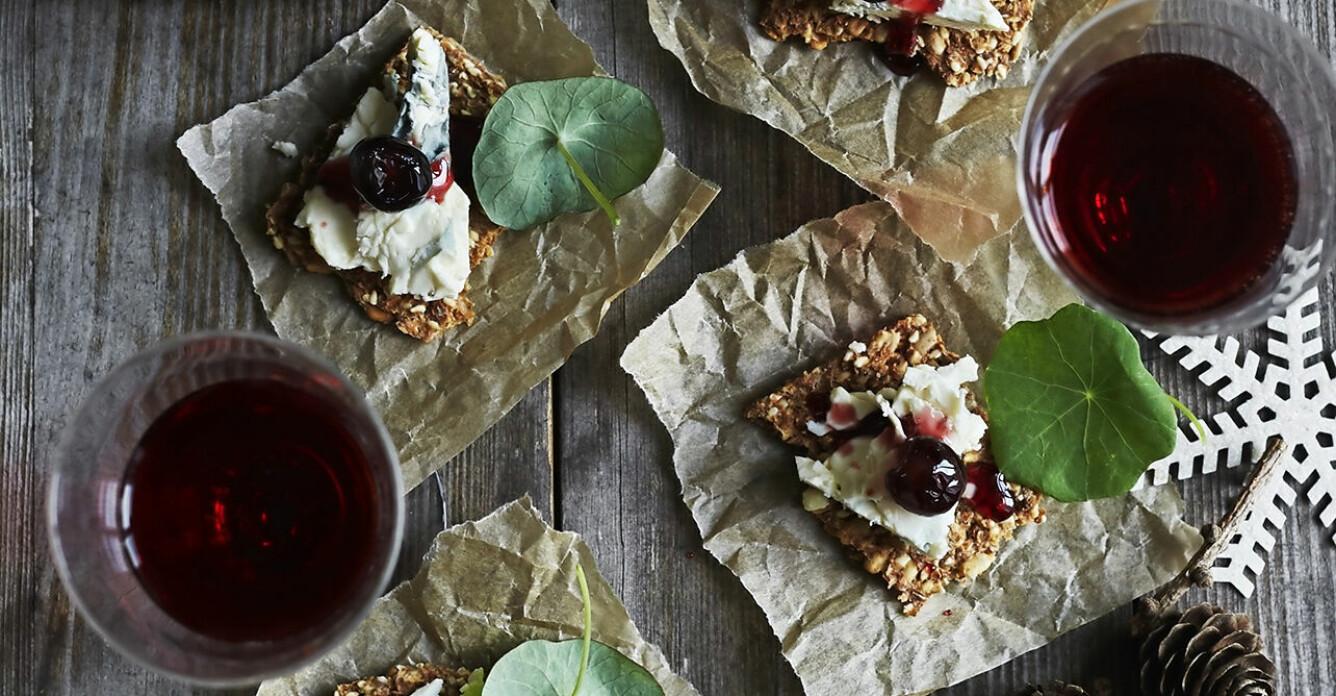 Recept på ädelost med syltade körsbär