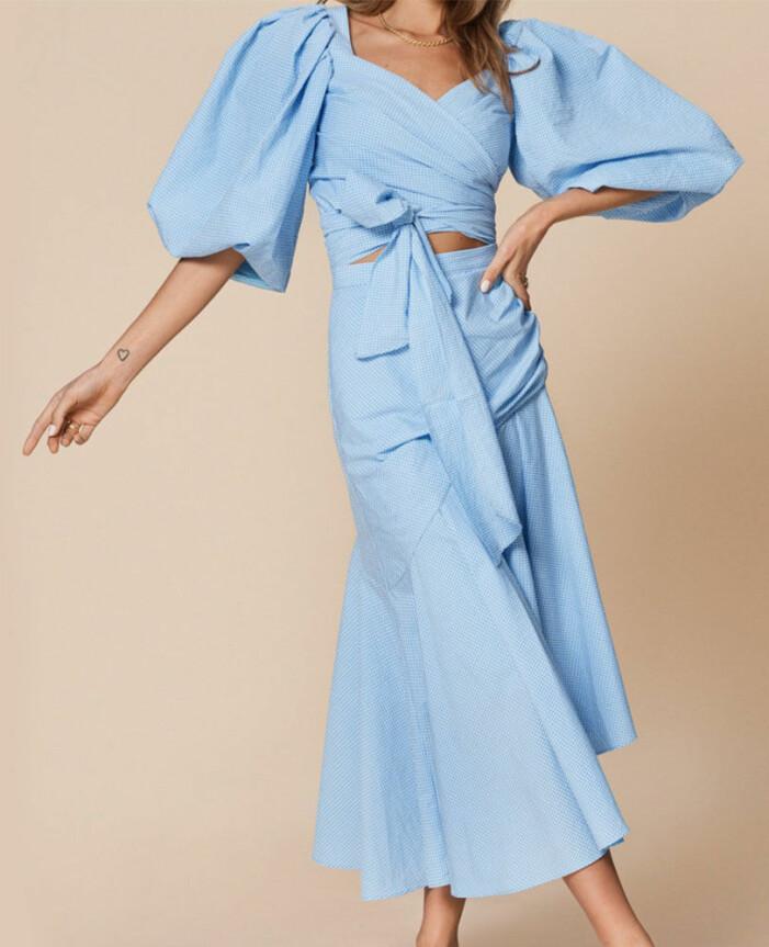 blått set med kjol och topp från adoore