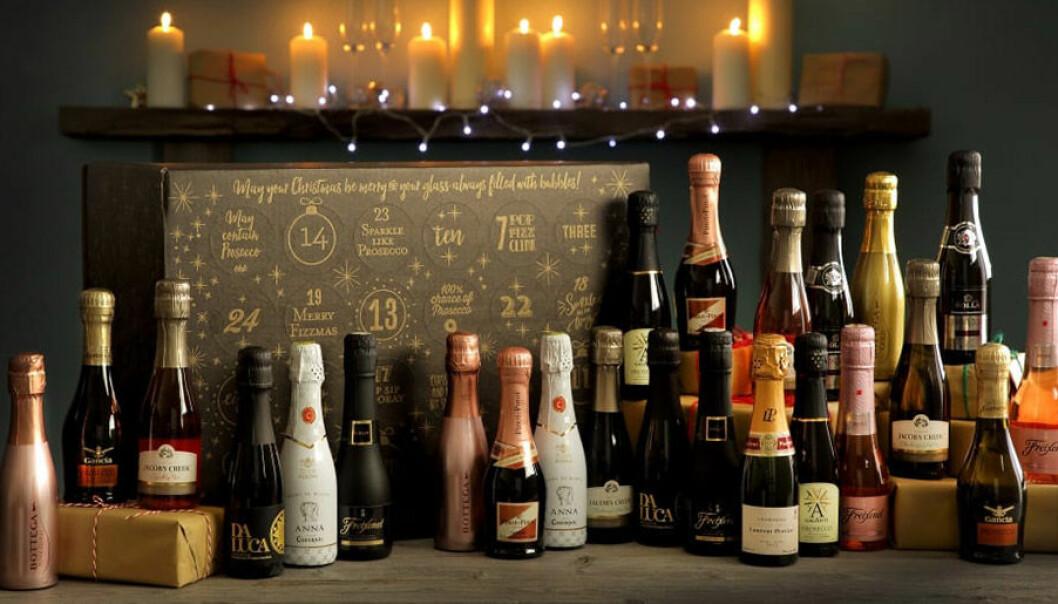 Adventskalender med cava, champagne och prosecco.