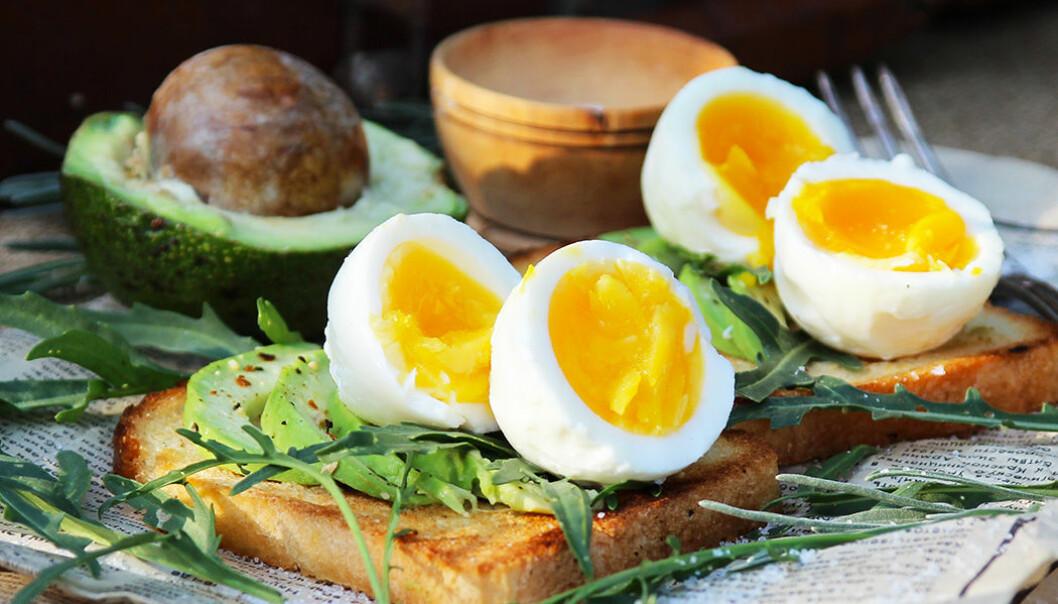 En avokadomacka med kokt ägg mättar länge.
