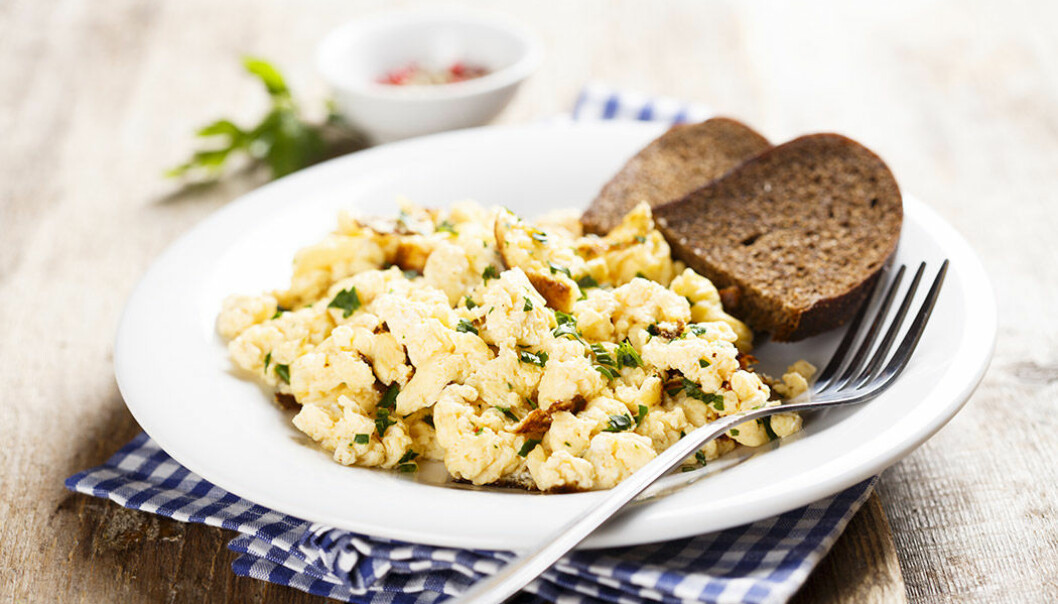 Äggröra är gott och nyttigt!
