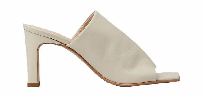 beige sandaletter med fykantig tå