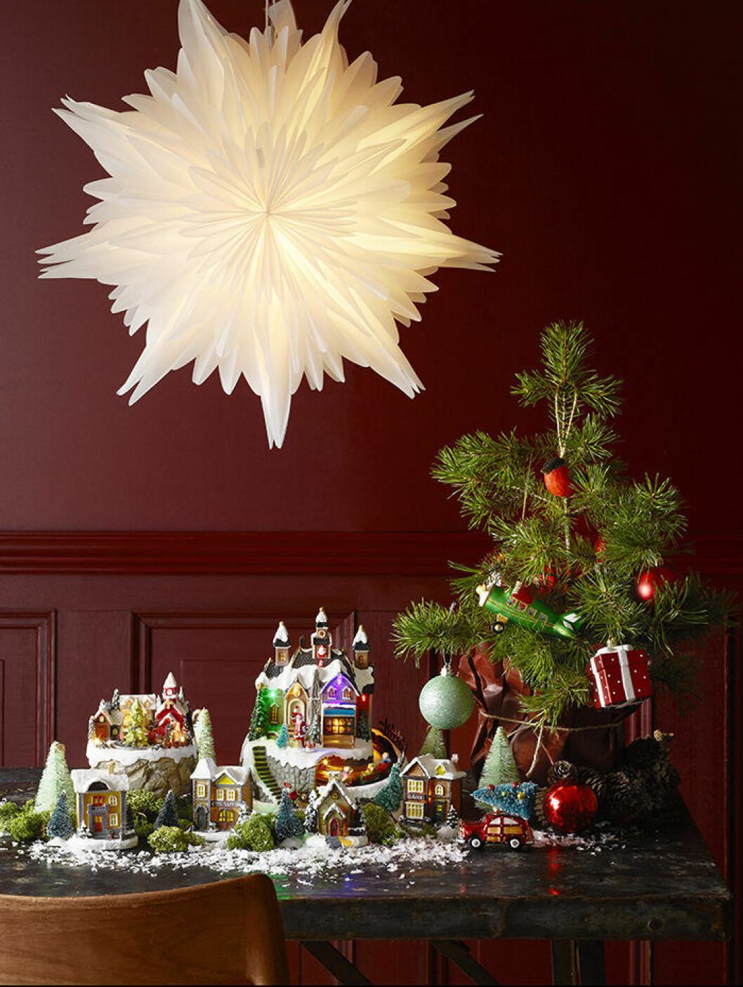 Annorlunda julstjärna och juldekorationer från Åhléns
