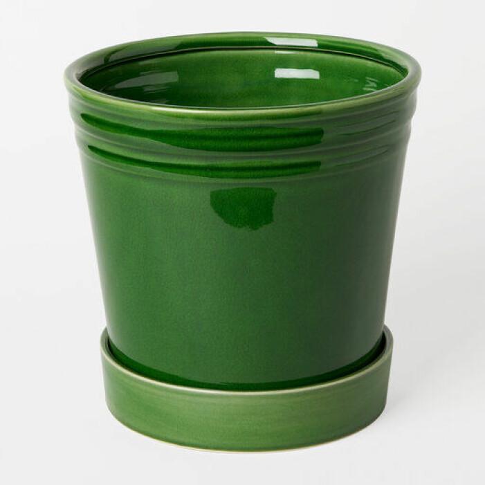 Glaserad grön kruka Alve från Åhléns
