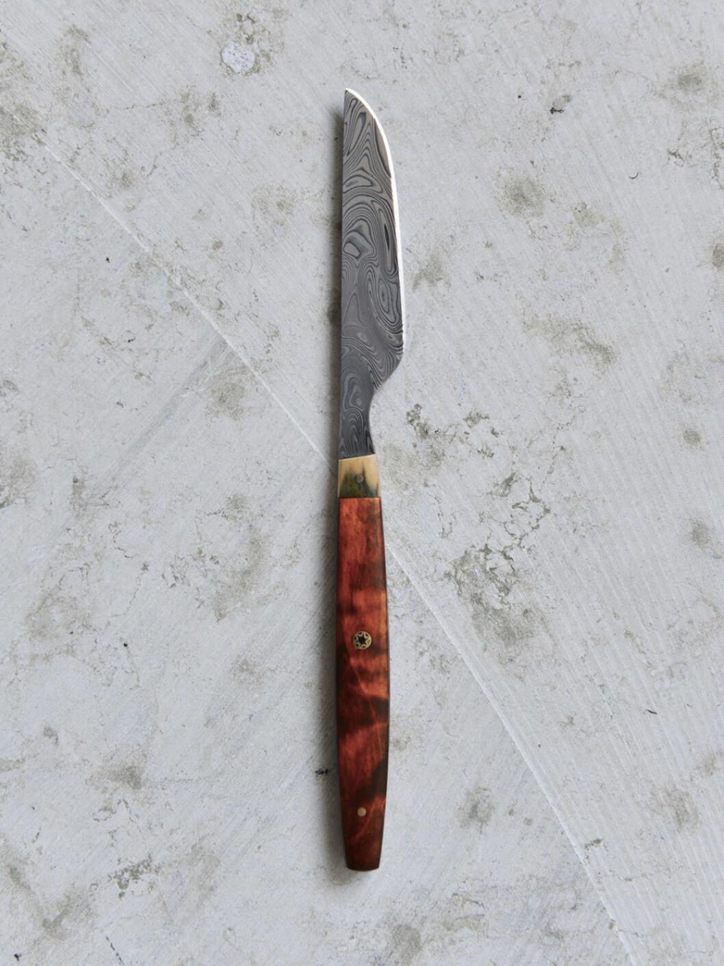 Ny kniv av Jens Fager för restaraurant Aira Stockholm