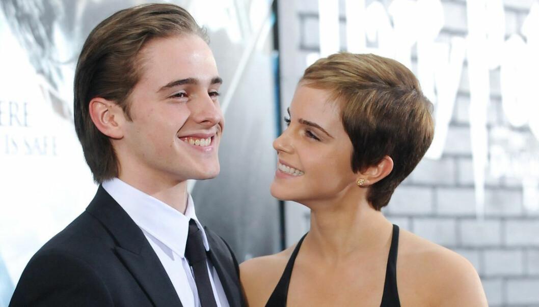 Emma Watson med brodern Alex