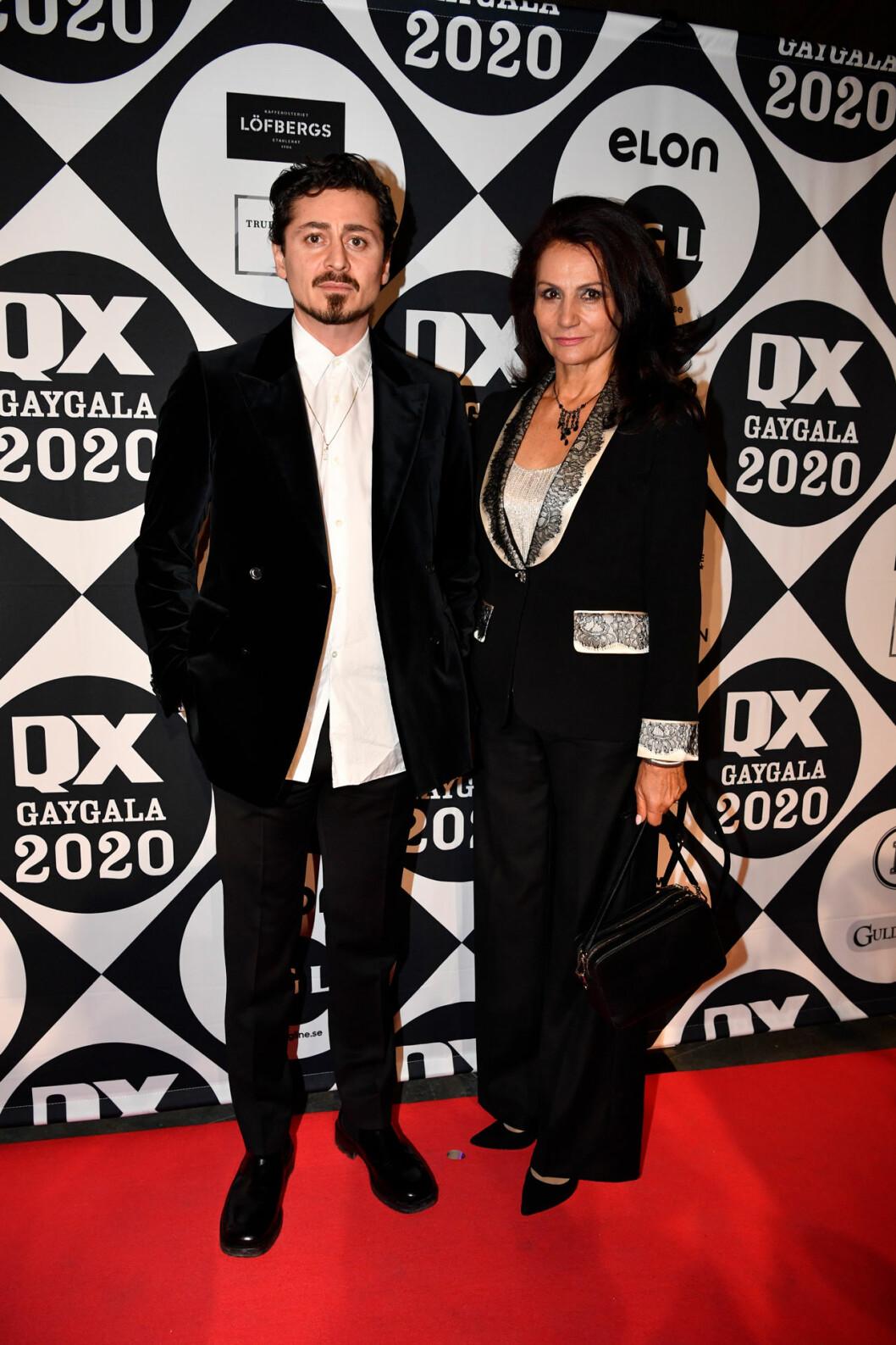 Alexej Manvelov och Malgorzata Pieczynska på röda mattan på QX-galan 2020