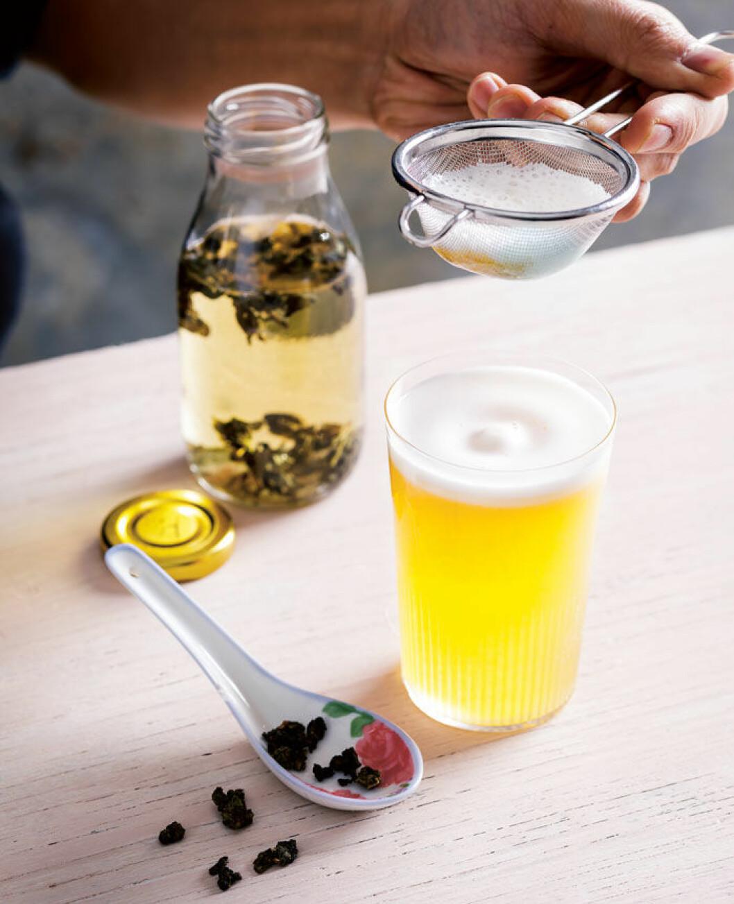 Fancy tea shake.