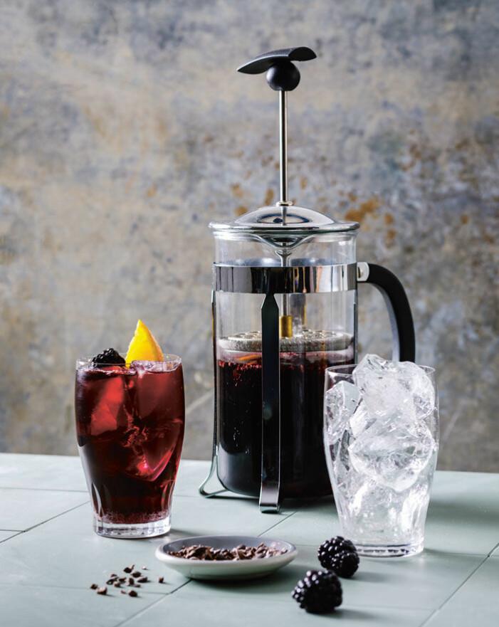 Recept på alkoholfri sangria med kakao och kanel