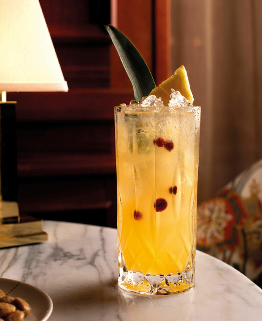 Den alkoholfria drinken Coast Line från Bank Hotel.