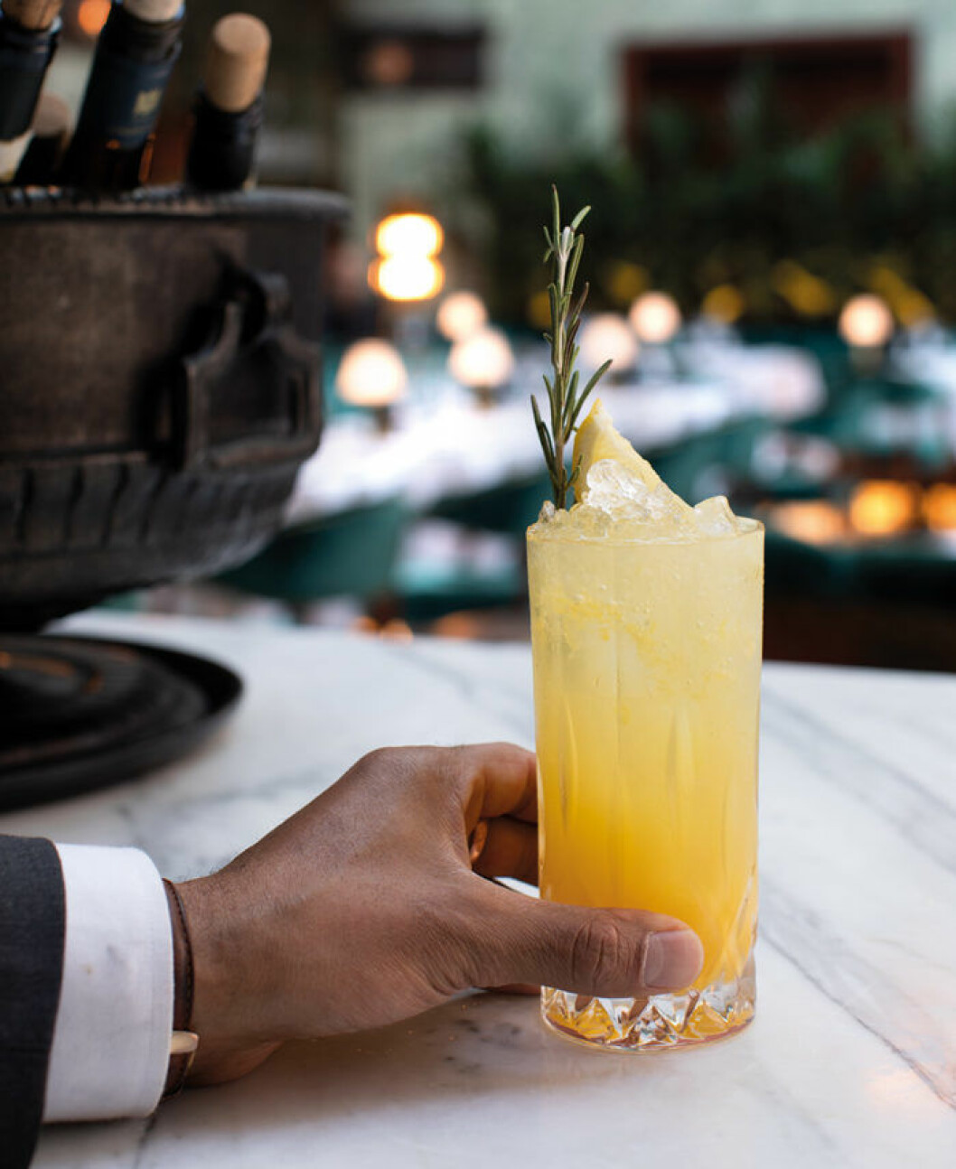 Den alkoholfria drinken Mediterranean Sour från Bank Hotel.