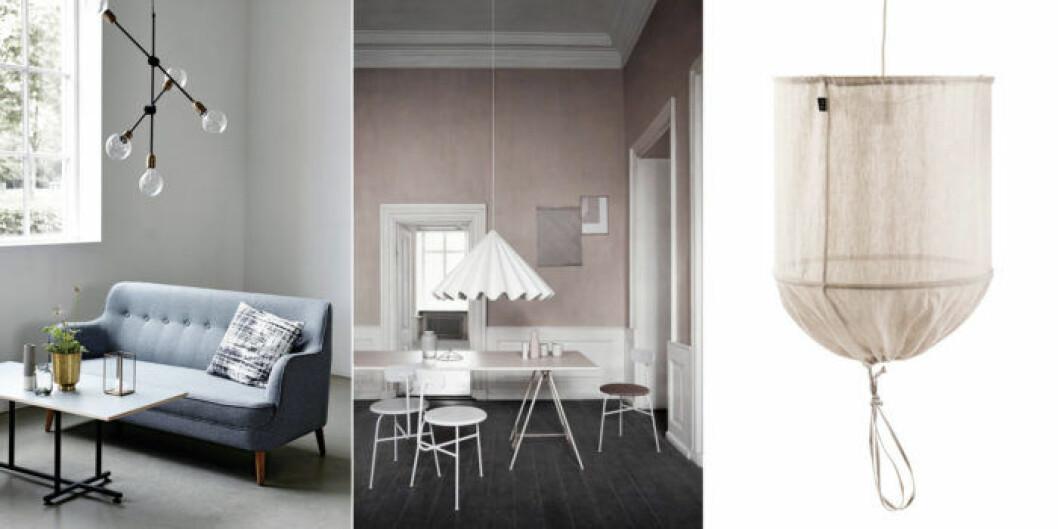 Använd en lampa som sprider ett jämnt ljus genom rummet.