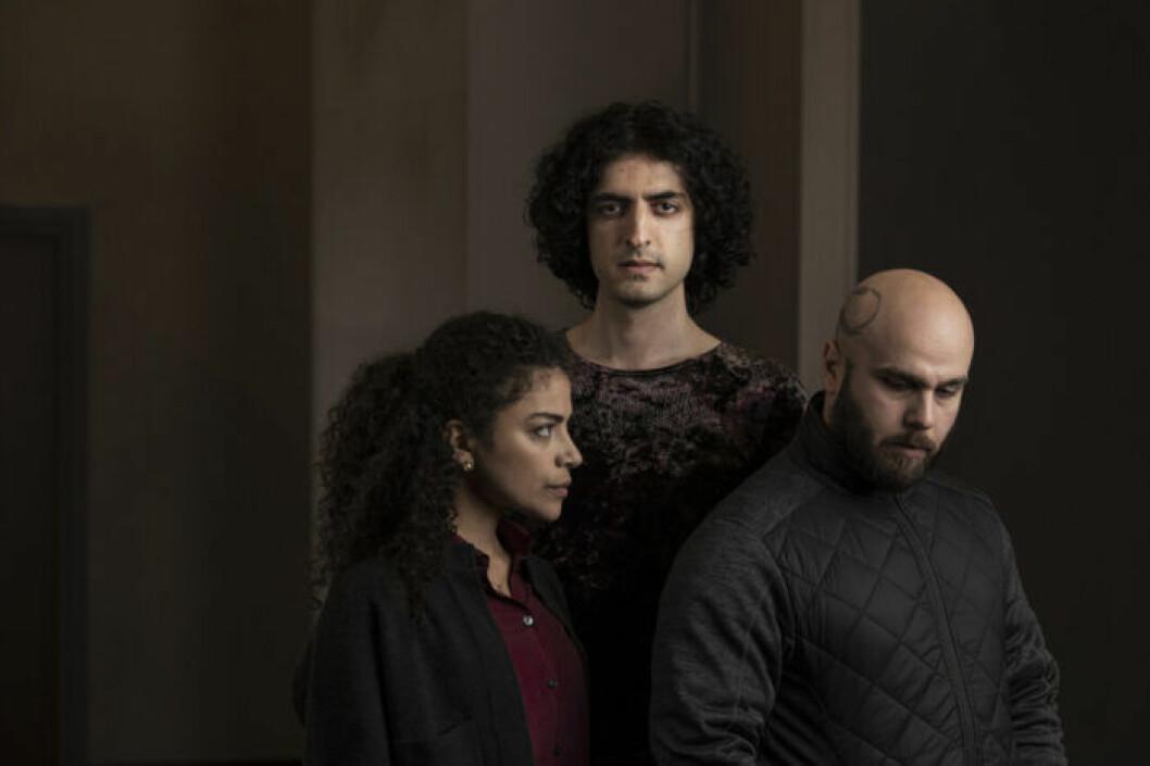 En bild på skådespelarna i tv-serien Allt jag inte minns, som visas på SVT.