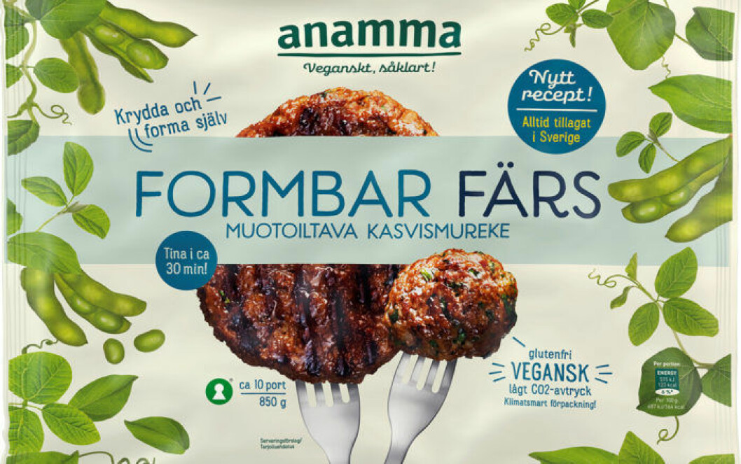 Anammas formbara färs är helt veganskt.