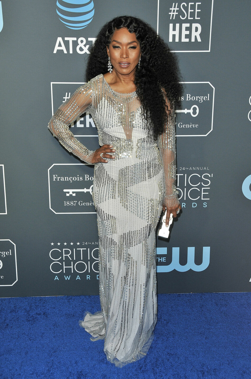 Angela Bassett på röda mattan på Critics Choice Awards 2019