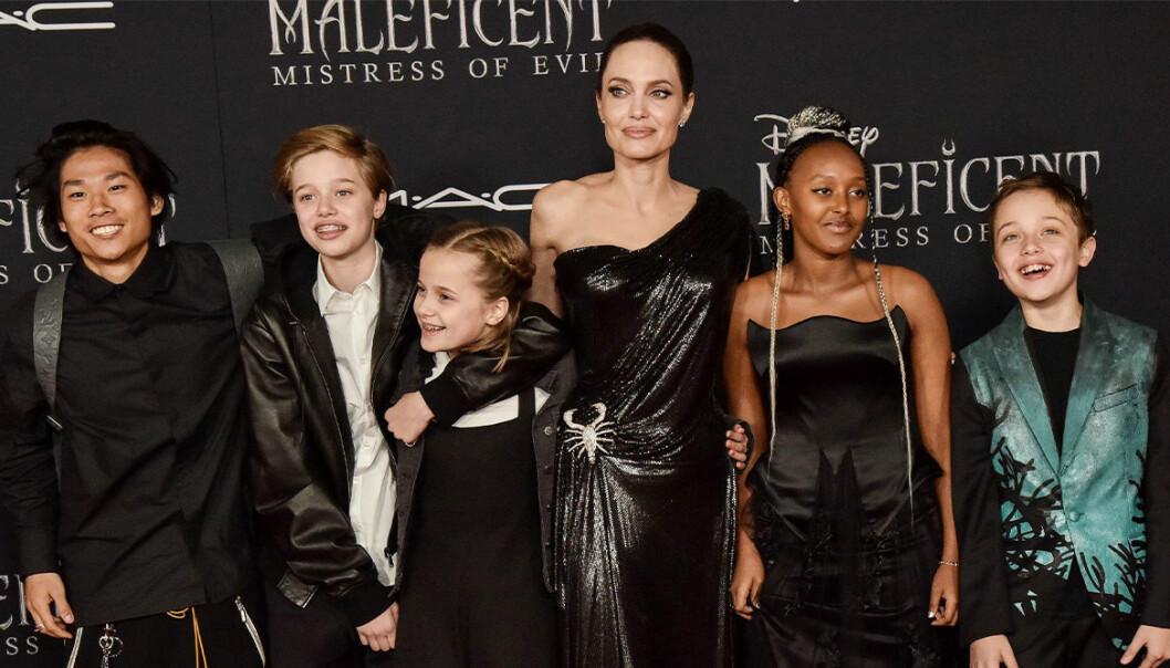 Angelina jolie med sina barn