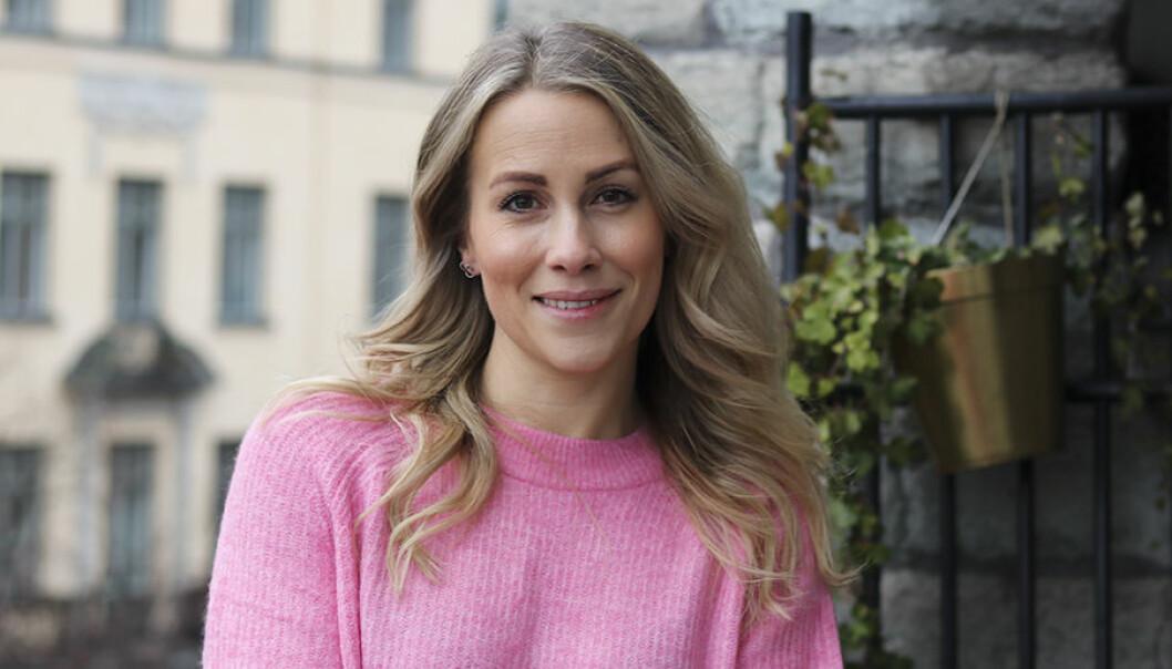 Anja Forsnor i rosa tröja.