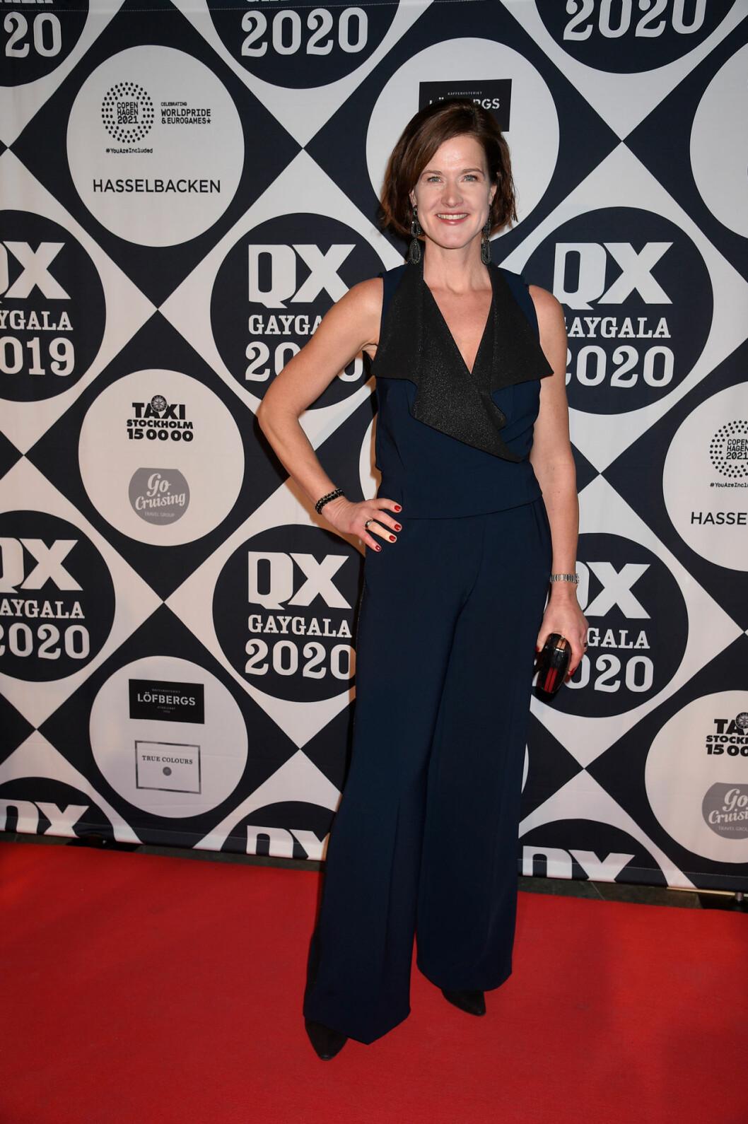 Anna Kinberg Batra på röda mattan på QX-galan 2020