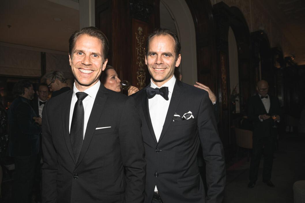 Arvid Nordström och Gustaf Nordström på annonsmingel före ELLE-galan 2020