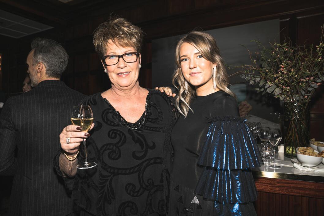 Eva Milesson och Johanna Bladh på annonsmingel före ELLE-galan 2020