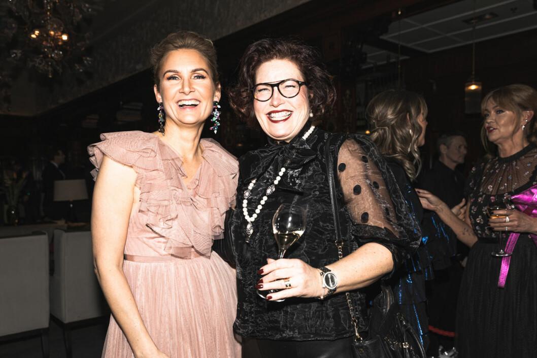 Gabriella Berggren och Christine Dalman på annonsmingel före ELLE-galan 2020