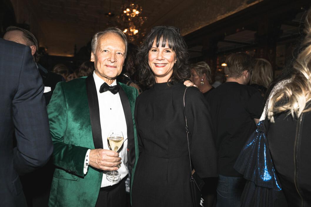 Göran Agardh och Tove Ahsell på annonsmingel före ELLE-galan 2020