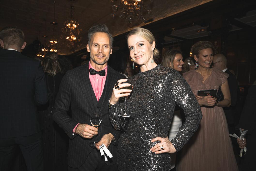 Jens Svensson och Lina Eklund på annonsmingel före ELLE-galan 2020
