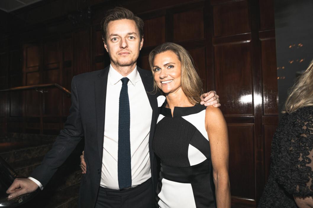 Nick Buckley och Anna Lundell på annonsmingel före ELLE-galan 2020