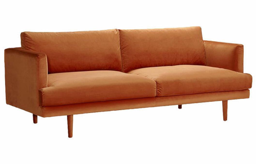 Antwerpen soffa i orange sammet från Jotex