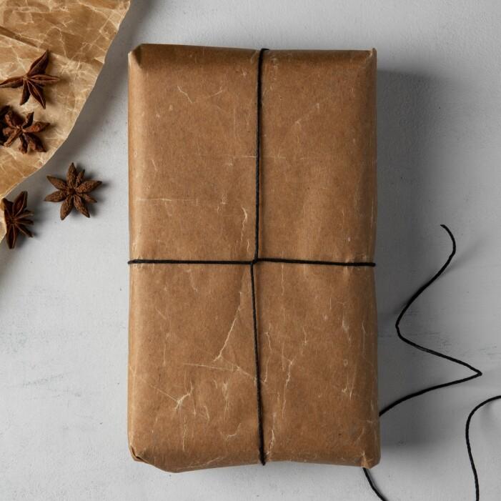 Använd enkla snören till julklapparna
