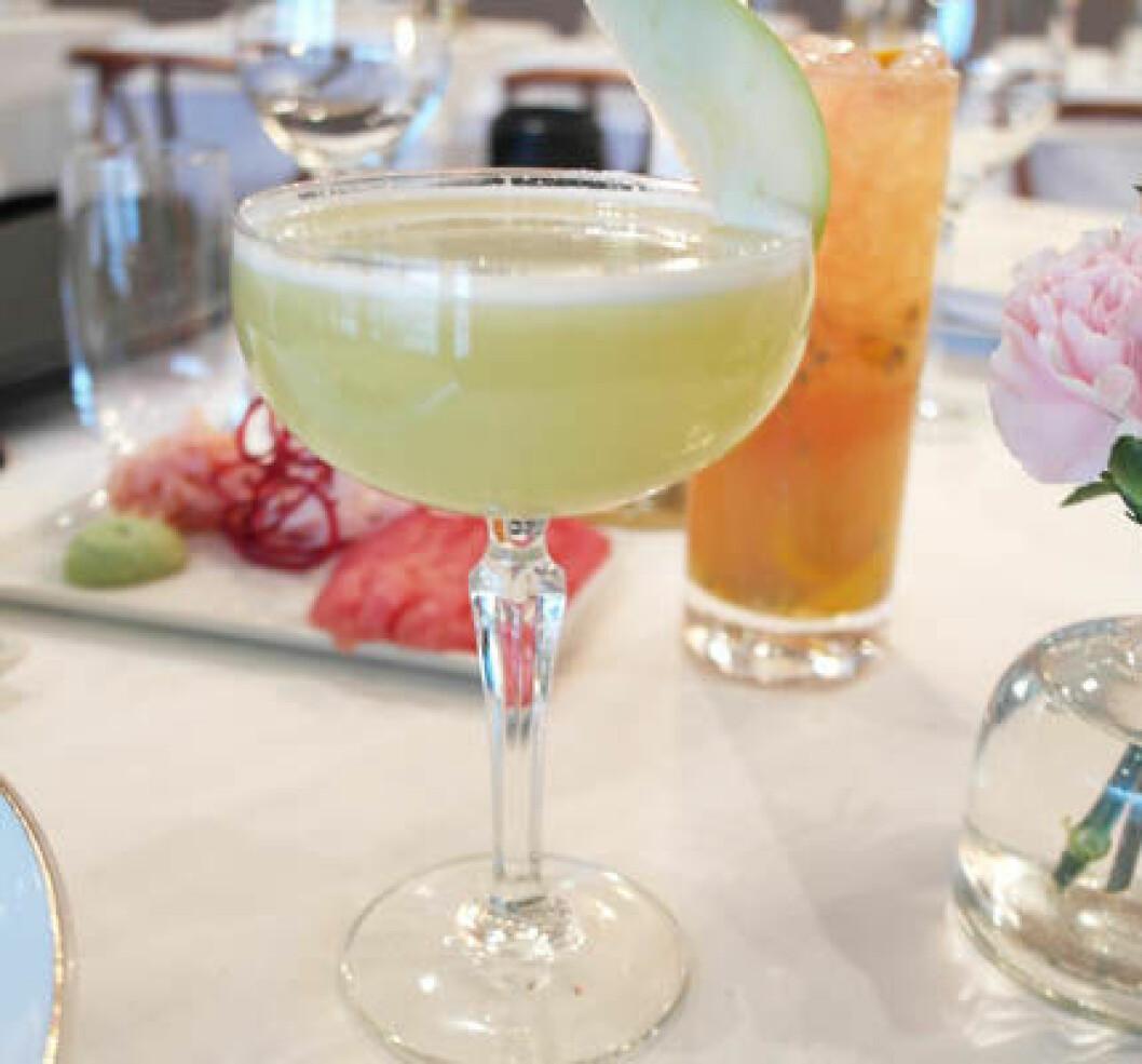 Apple & Ginger Martini.