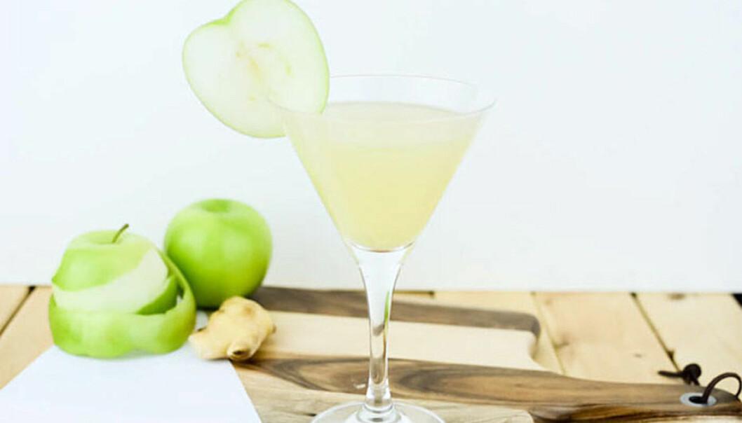 Recept på apple ginger martini
