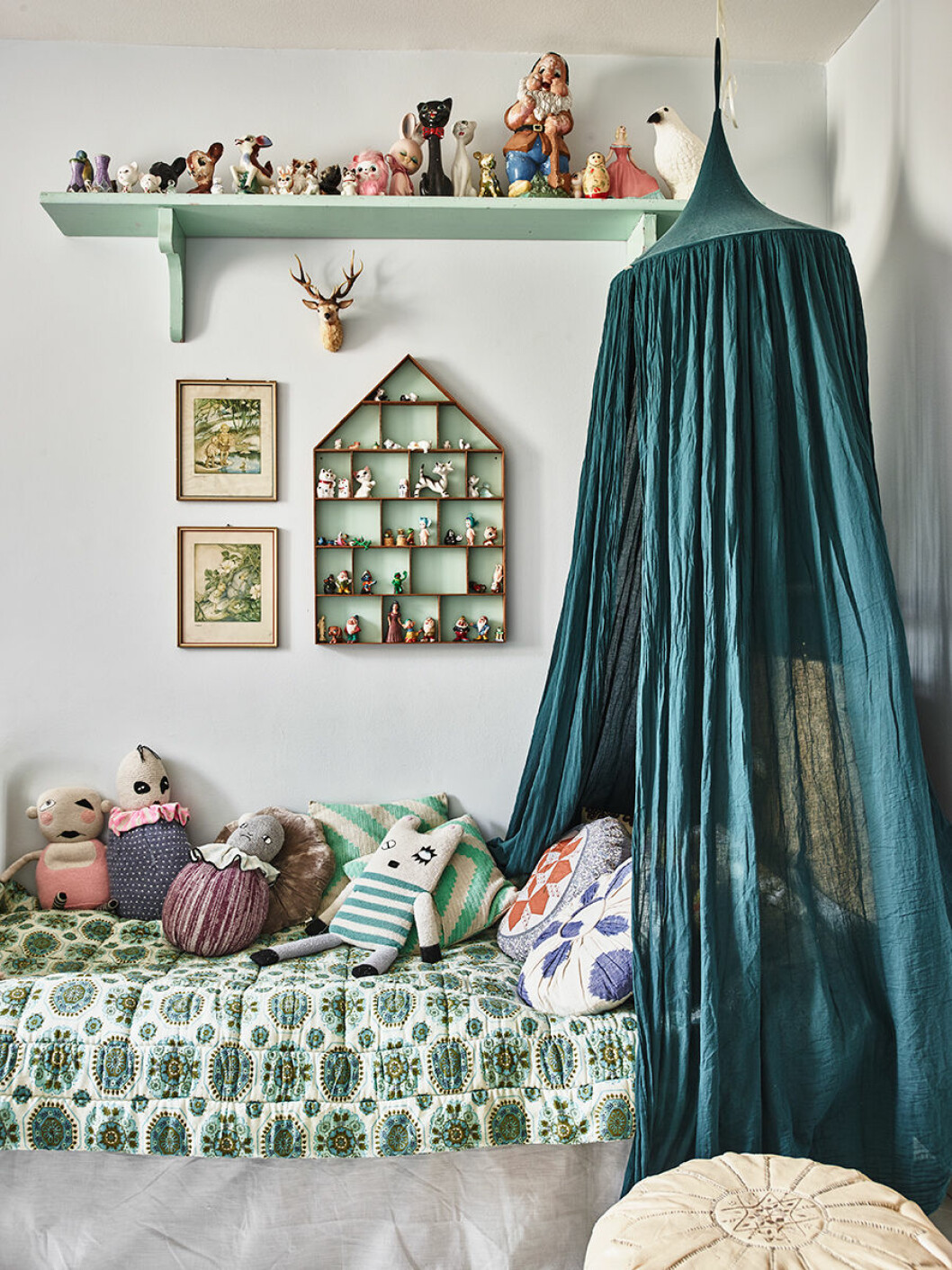 Ett sovrum i  Karolina Vertus hem.