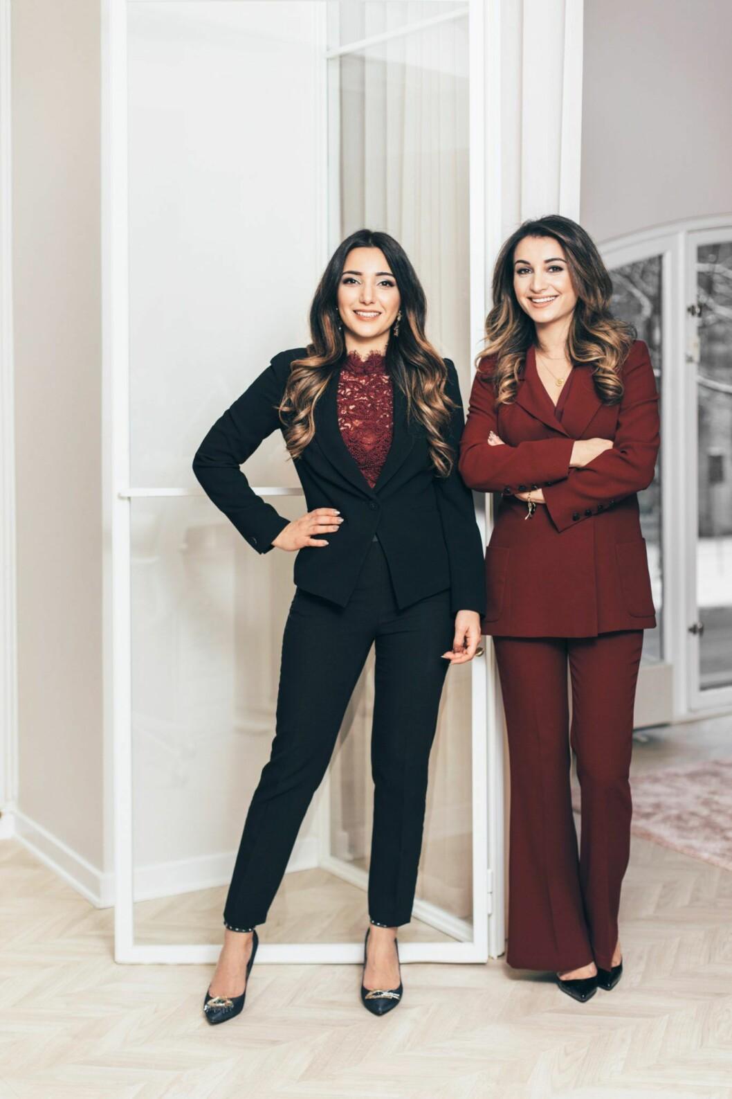 Arbilina Nissan och Nina Akbari, grundare Dashl