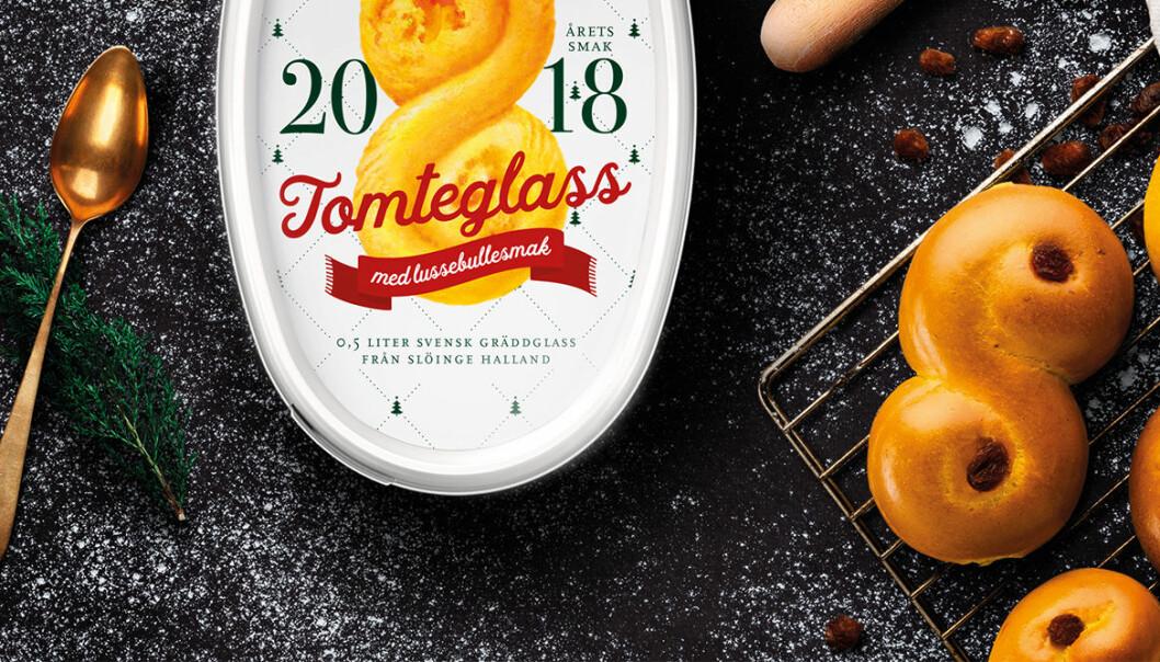 2018 års Tomteglass från Sia kommer smaka lussebulle.