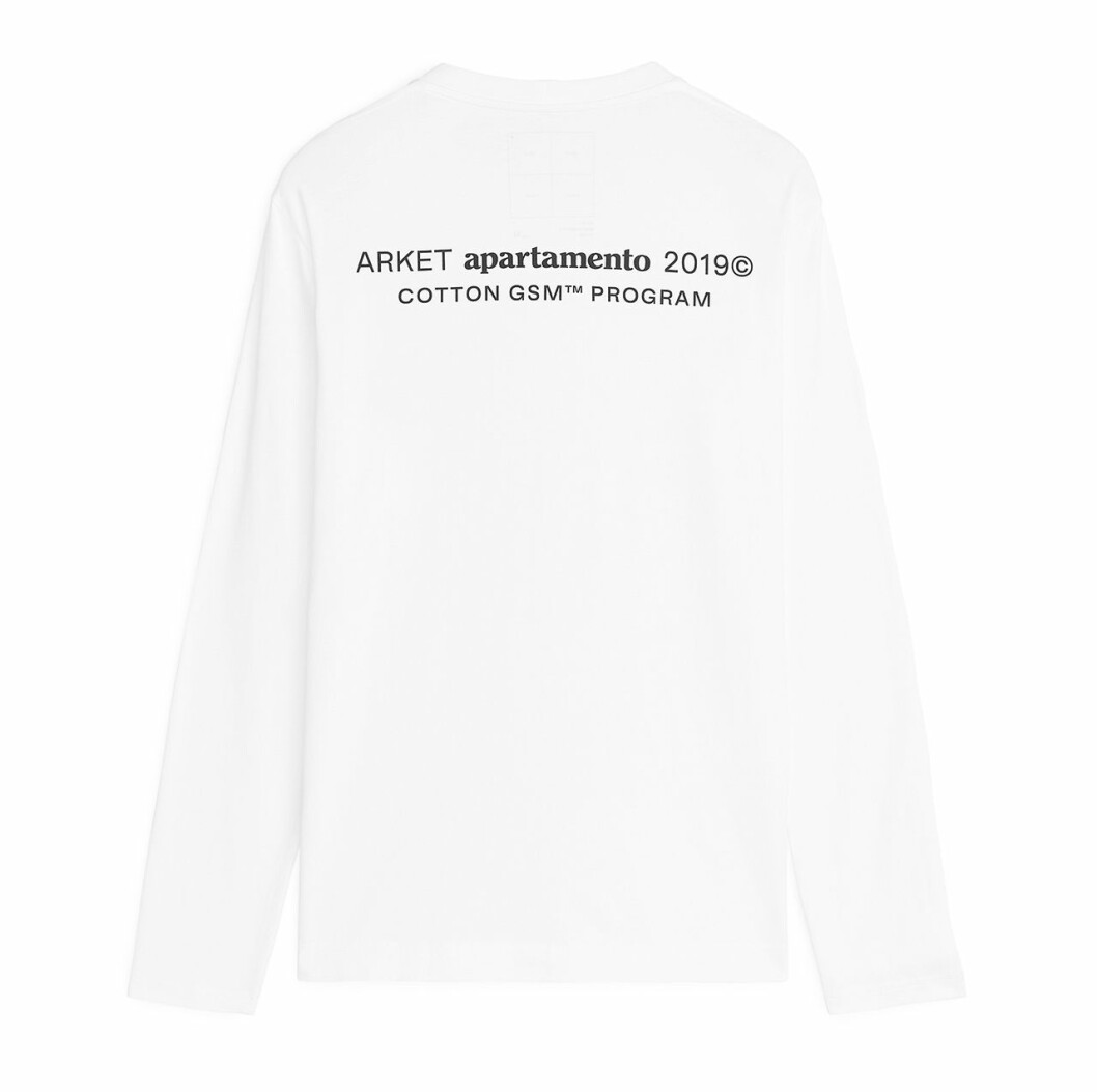 Arket x Apartamento – tröja 4 baksida