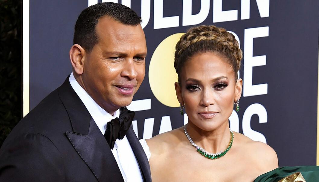 Alex Rodriguez och Jennifer Lopez blev ett par 2017.