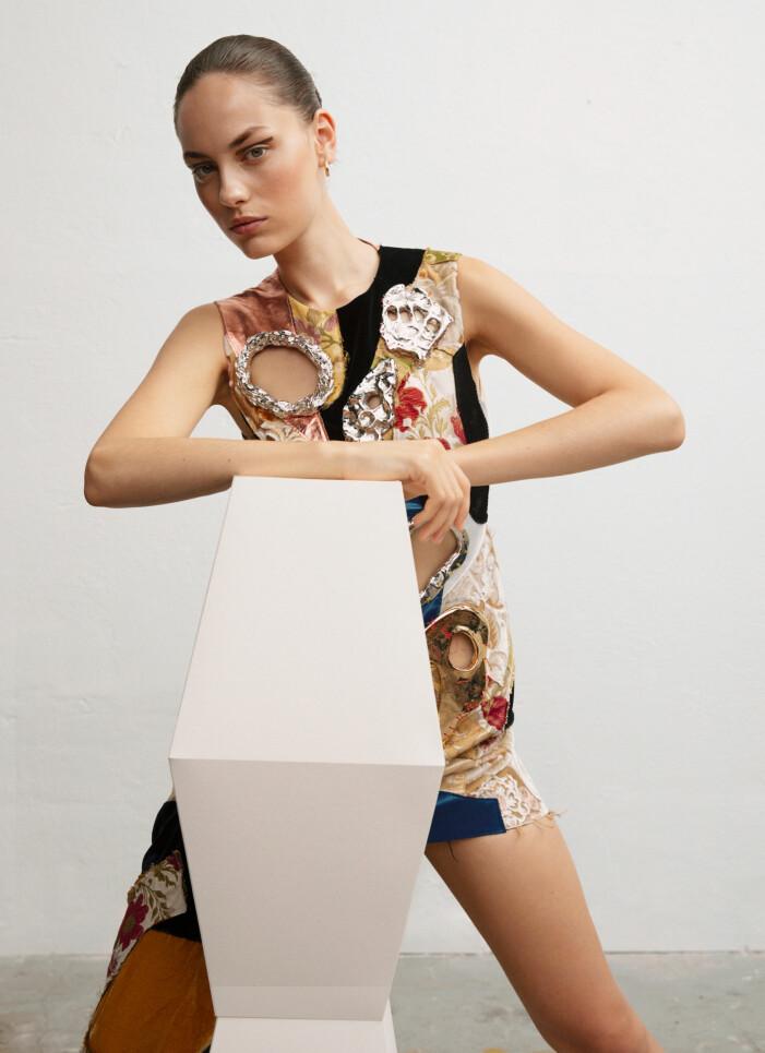 Art déco-inspirerad klänning från Marni