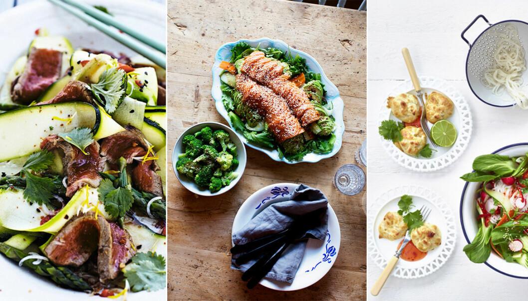 Goda och lyxiga recept med inspiration från Asien