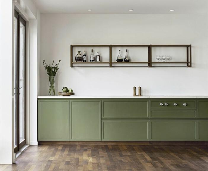 Atelier grönt kök från Kvänum