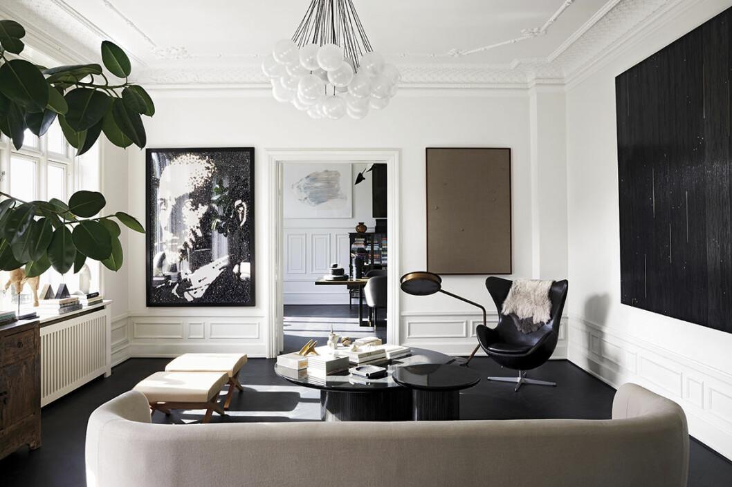 vardagsrum grafiskt svart vitt konst inspiration