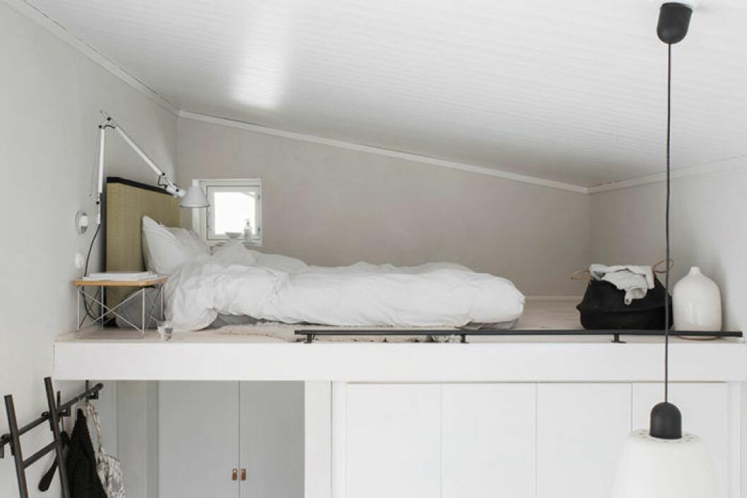 Sovloftet i huset.