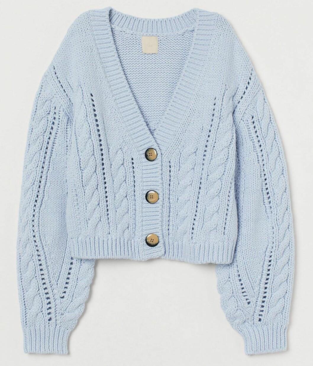 Ljusblå kofta från H&M