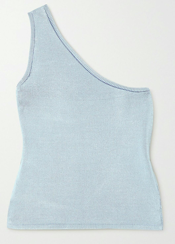 Stickat linne i one-shoulder modell från LA baserade märket Calle del Mar