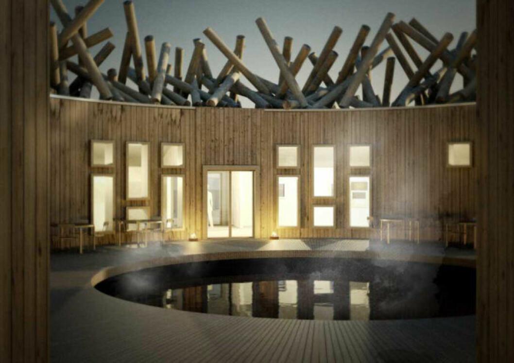 Isvak på Arctic Bath