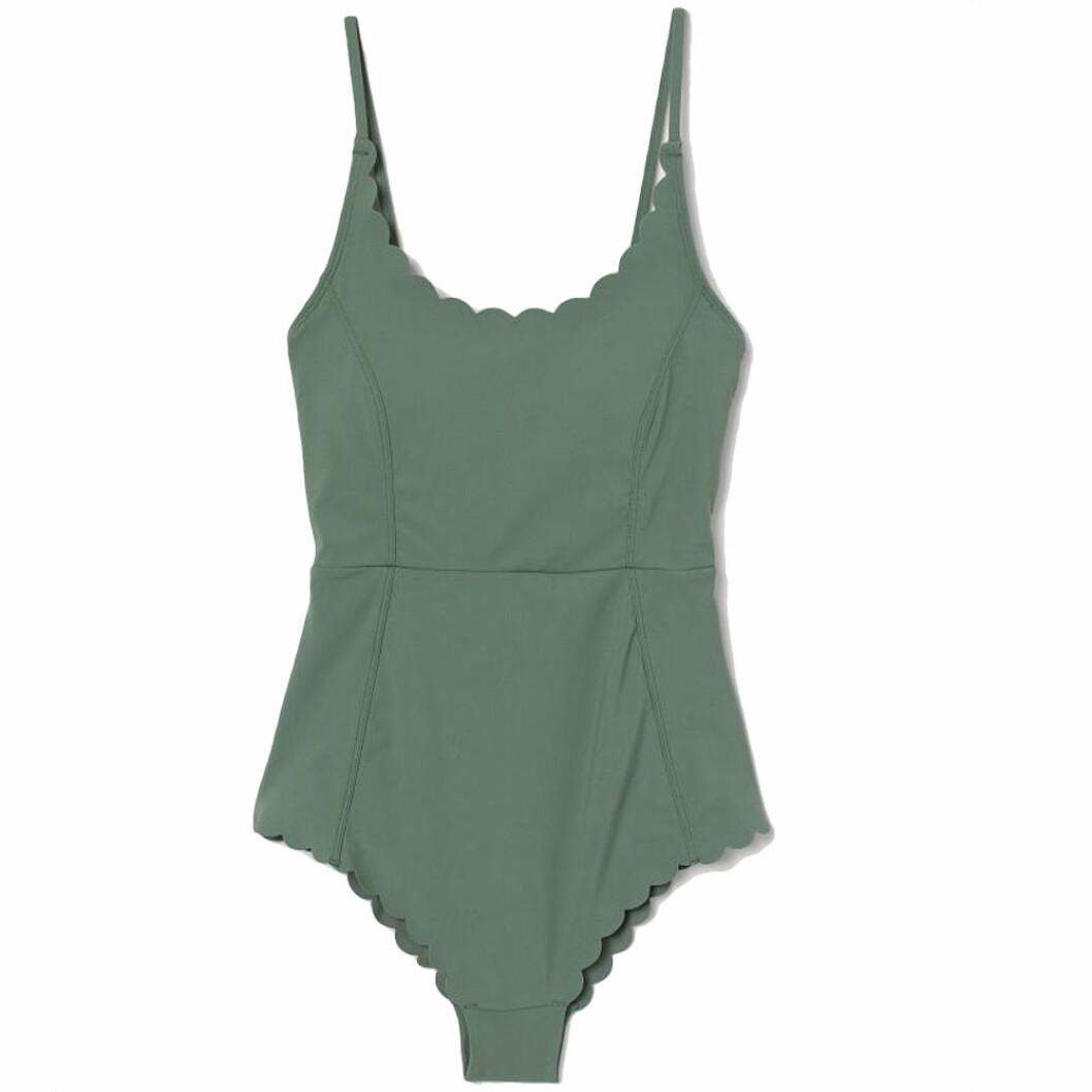 Grön vågig baddräkt från H&M