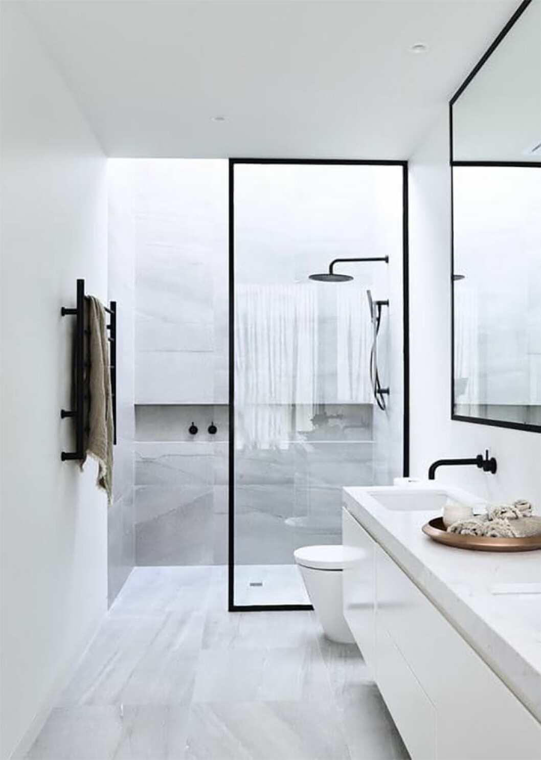 Glasvägg i badrum