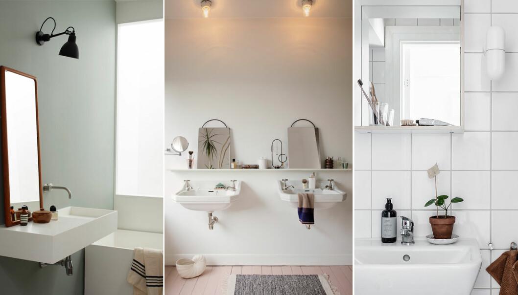 Inred ett mysigt badrum med loppisfynd och vintage
